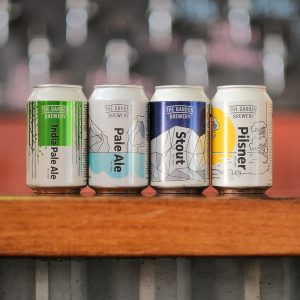 The Garden Brewery classic mix, 4 styles of beers together.